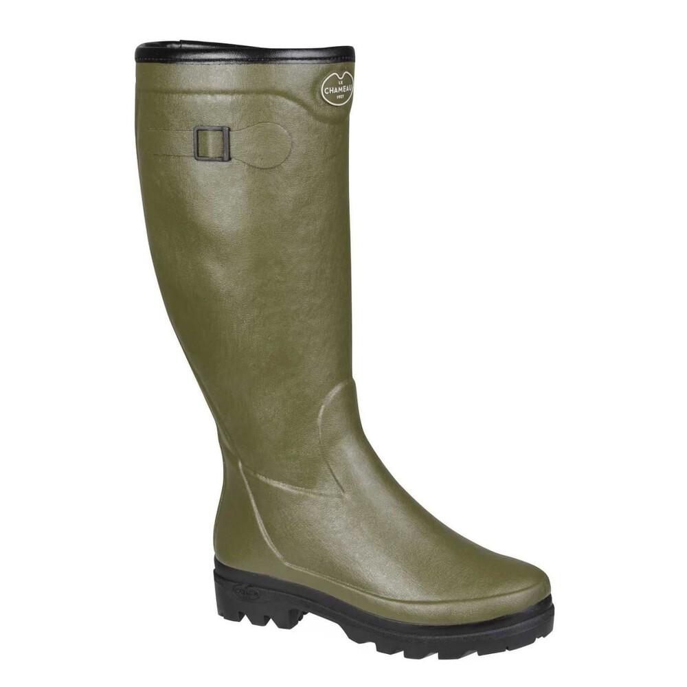 Le Chameau Country Lady Fourree Fur Lined Wellington Boots Green