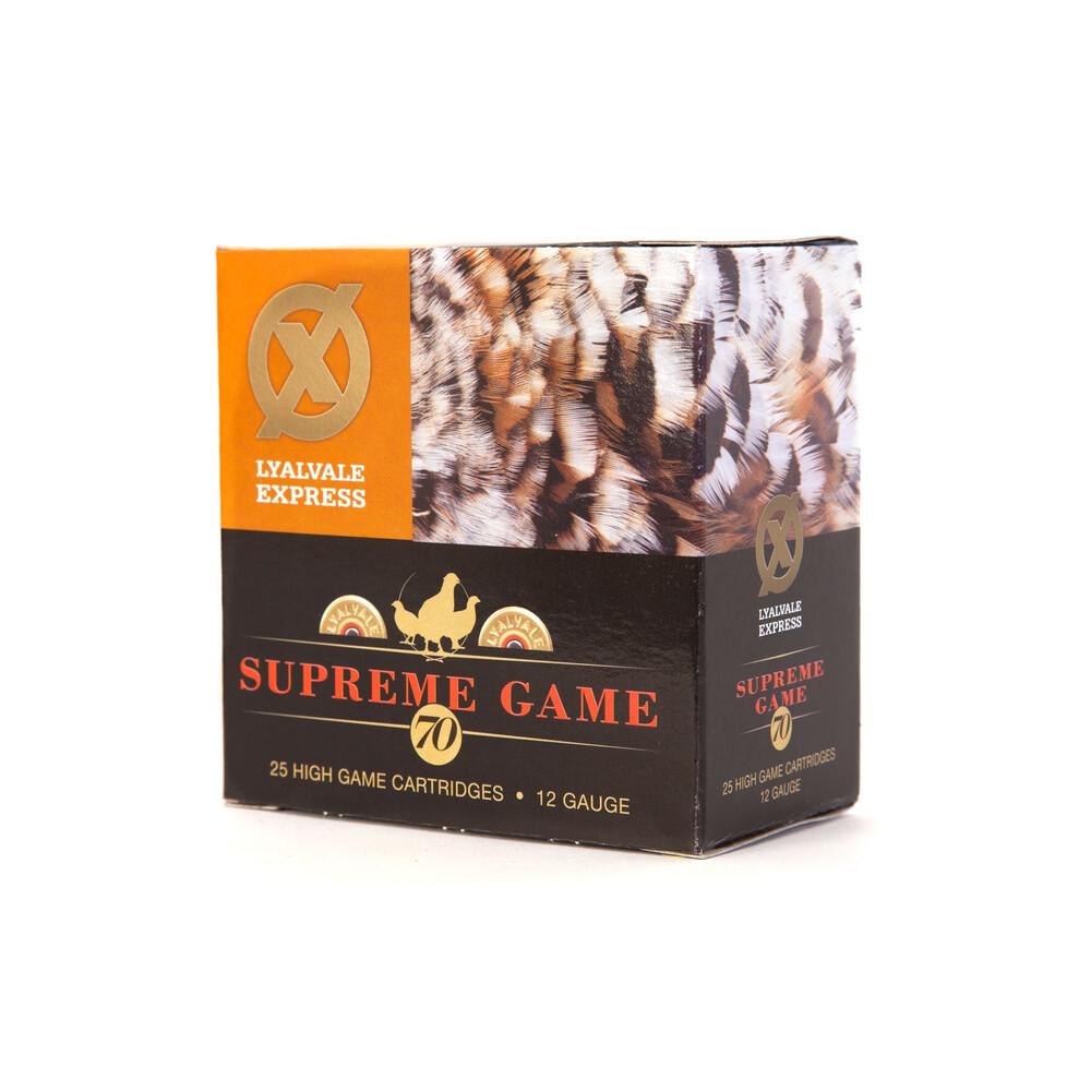Lyalvale Express Supreme Game Shotgun Cartridges - 12 Gauge - 32g - 5 Shot - 70mm