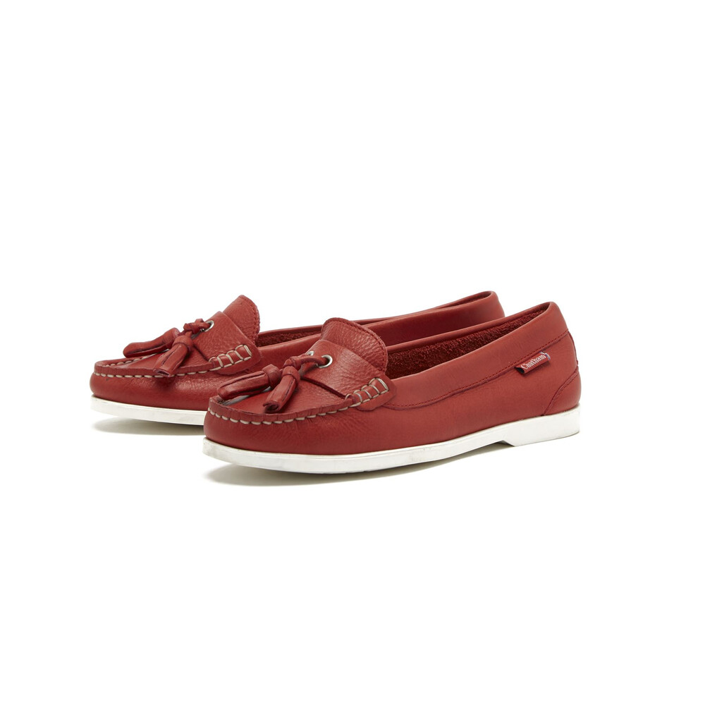Chatham Chatham Arora Suede Tassel Loafer - Red