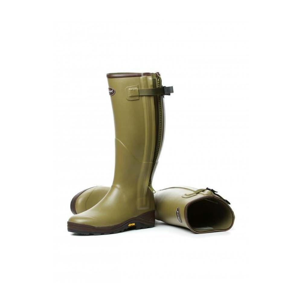 Gumleaf Royal Zip Neoprene Lined Wellington Boot Olive Green