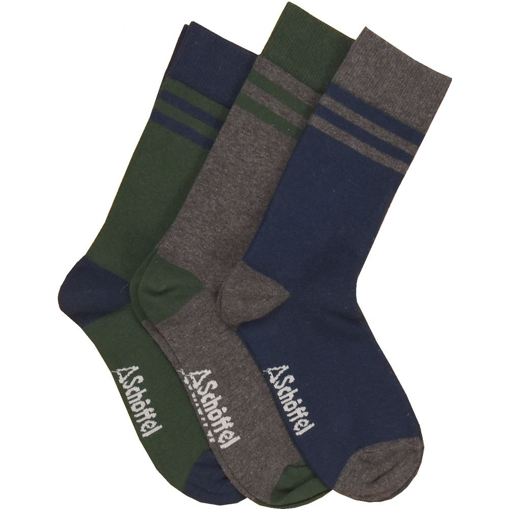 Schoffel Rock Sock - Navy Mix - UK 7 - UK 11 (Pack of 3) Blue