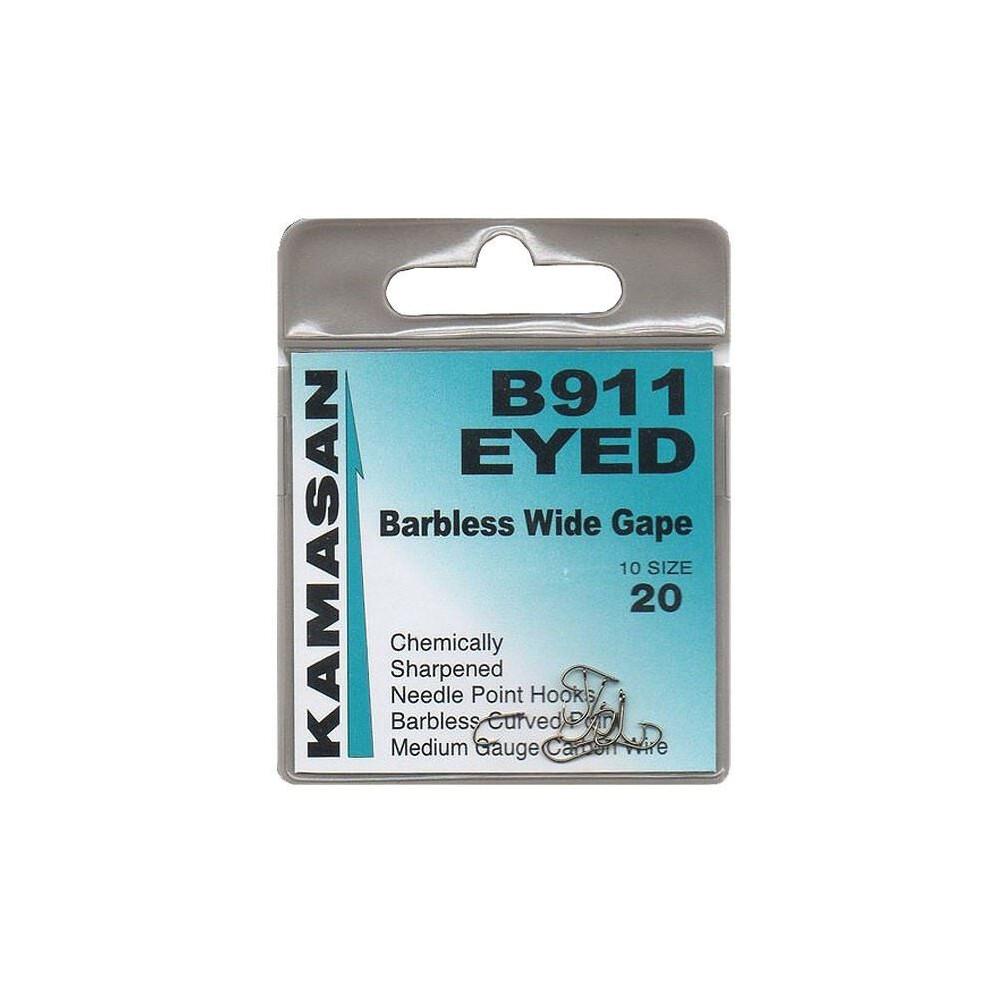 Kamasan B911 Hooks - Eyed - Barbless