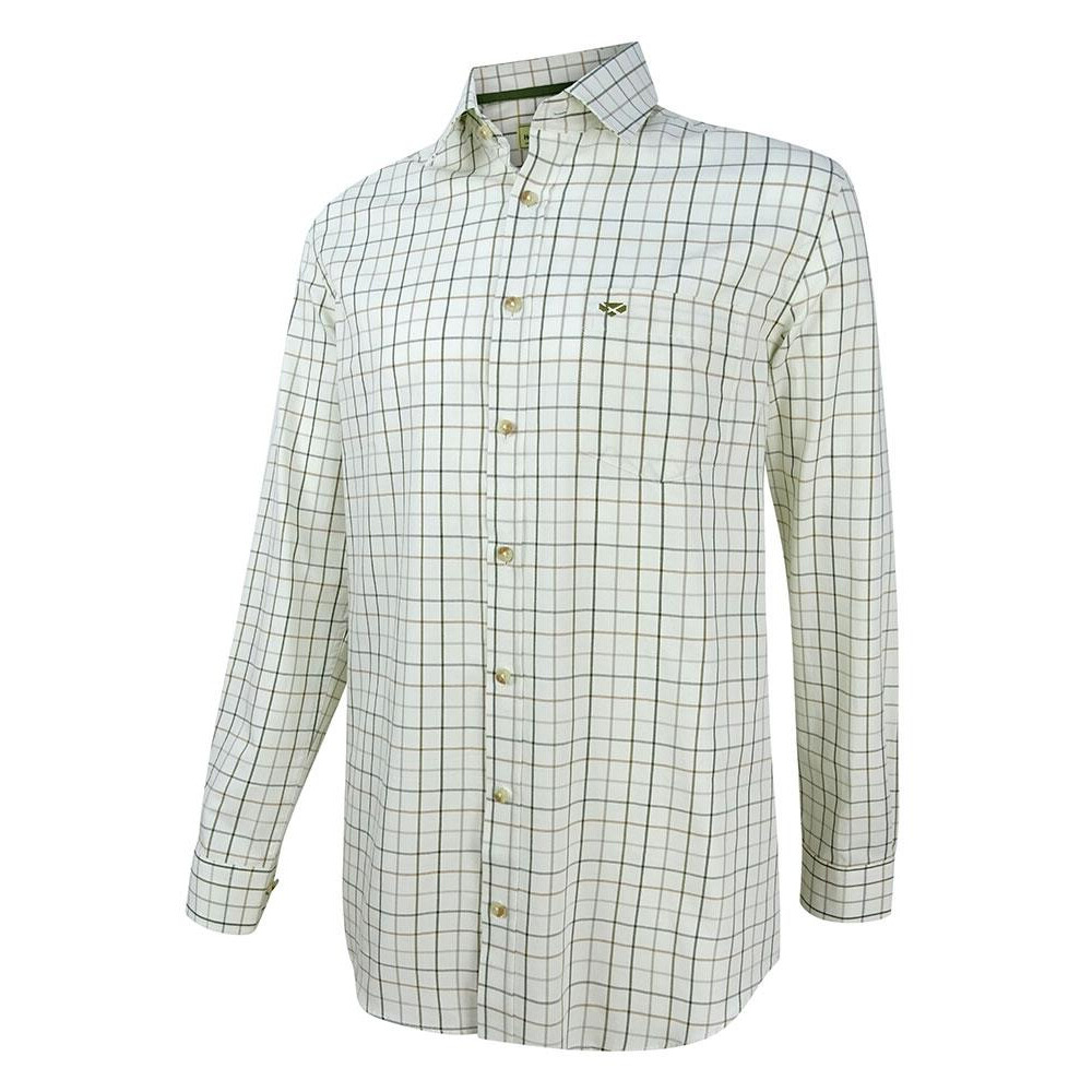 HOGGS OF FIFE Hoggs of Fife Balmoral Luxury Tattersall Shirt Green/Brown
