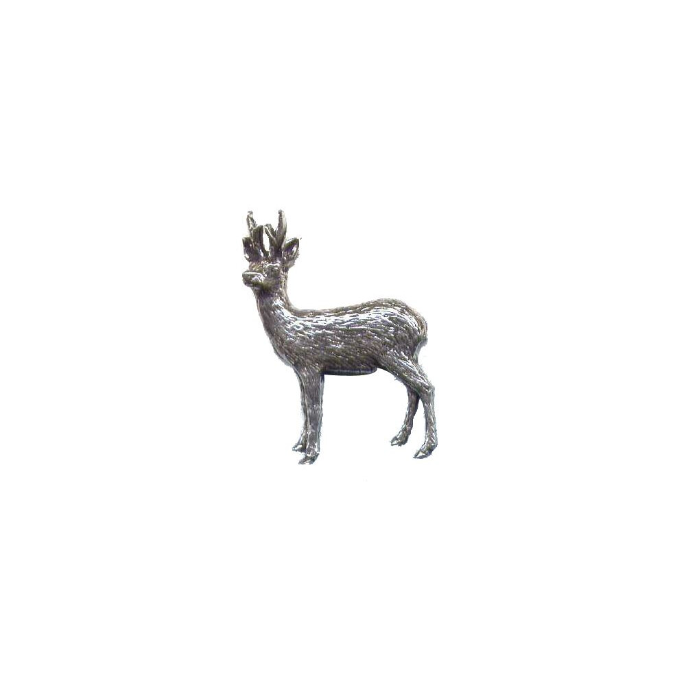 John Rothery Pewter Pin Badge - Roe Buck Unknown