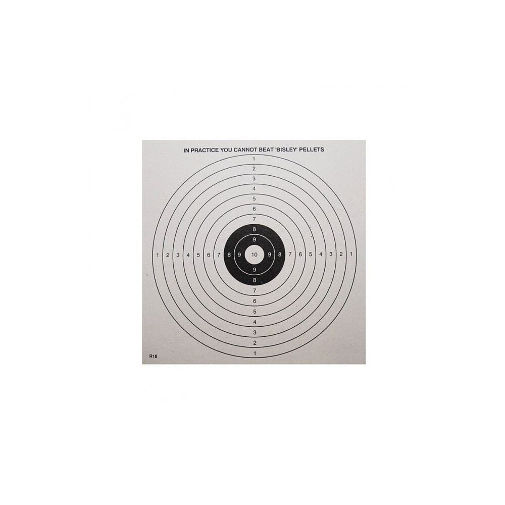 Unknown Bisley Paper Targets - 14cm - Pack of 50 Unknown