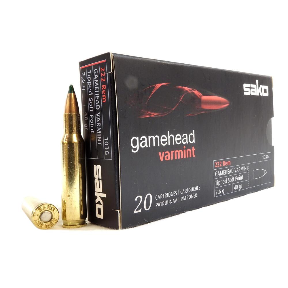 Sako .222 Ammunition - 40gr - Gamehead Varmint
