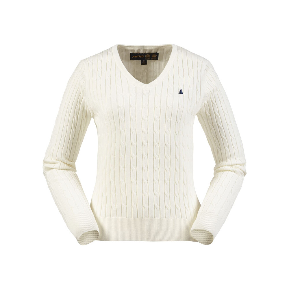 Musto Musto Anna Cable V-Neck Knit Sail