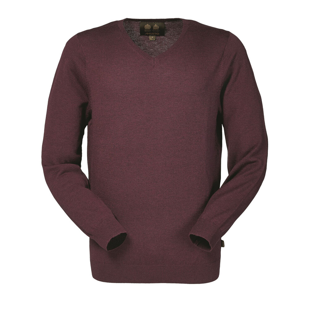 Musto Franklyn Merino V-Neck Knit - Bordeaux