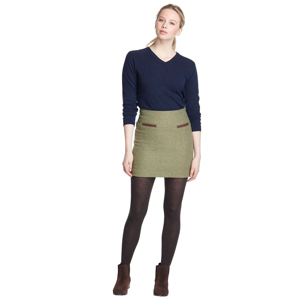 Dubarry Clover Tweed Mini Skirt - Size 16 Laurel