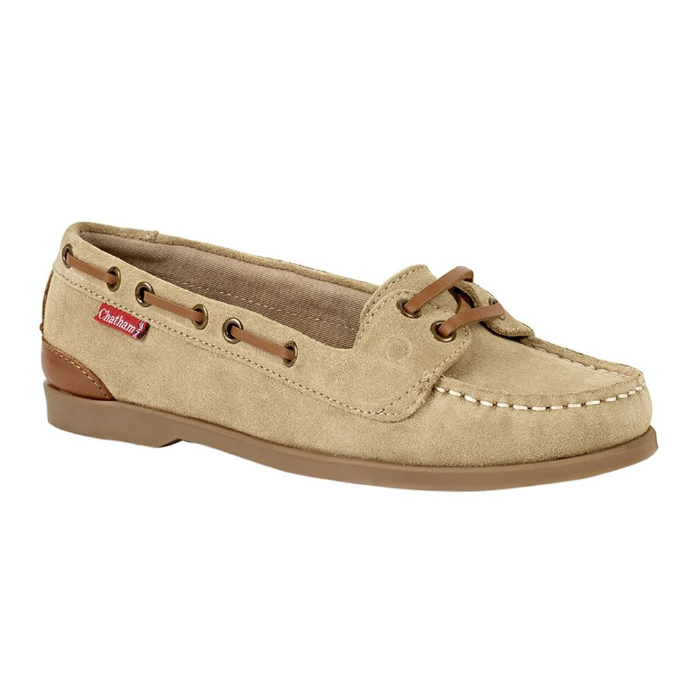 Chatham Rema Suede Boat Shoe Sand