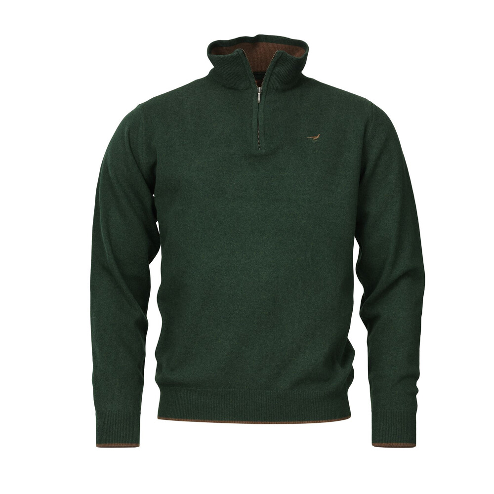 Laksen Wilton Zip-neck Sweater - Forester