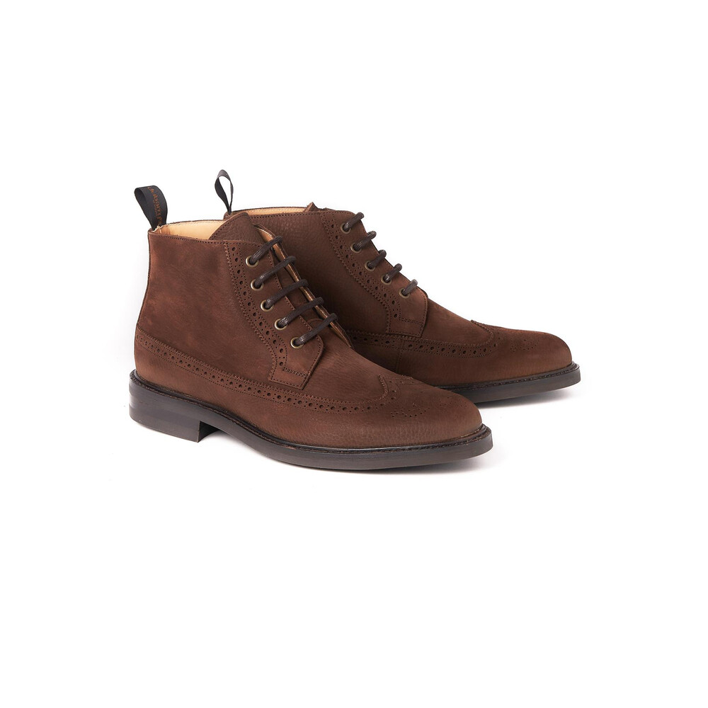 Dubarry Down Brogue Lace Boot - Walnut