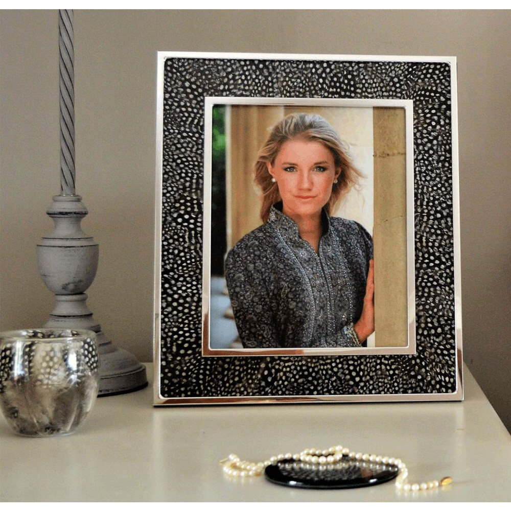 Wingfield Digby Photo Frame - Guinea Fowl Feather - 5 x 7