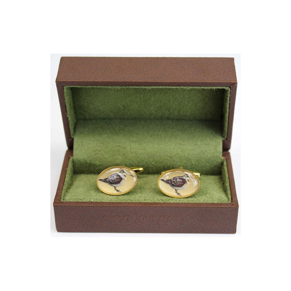 Soprano Country Cufflinks - Woodcock Gold