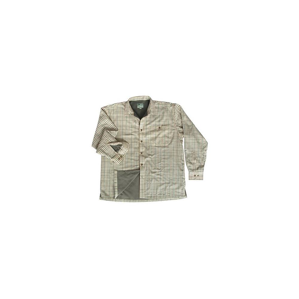 HOGGS OF FIFE Hoggs of Fife Birch Micro Fleece-lined Shirt - Olive/Tan Multi