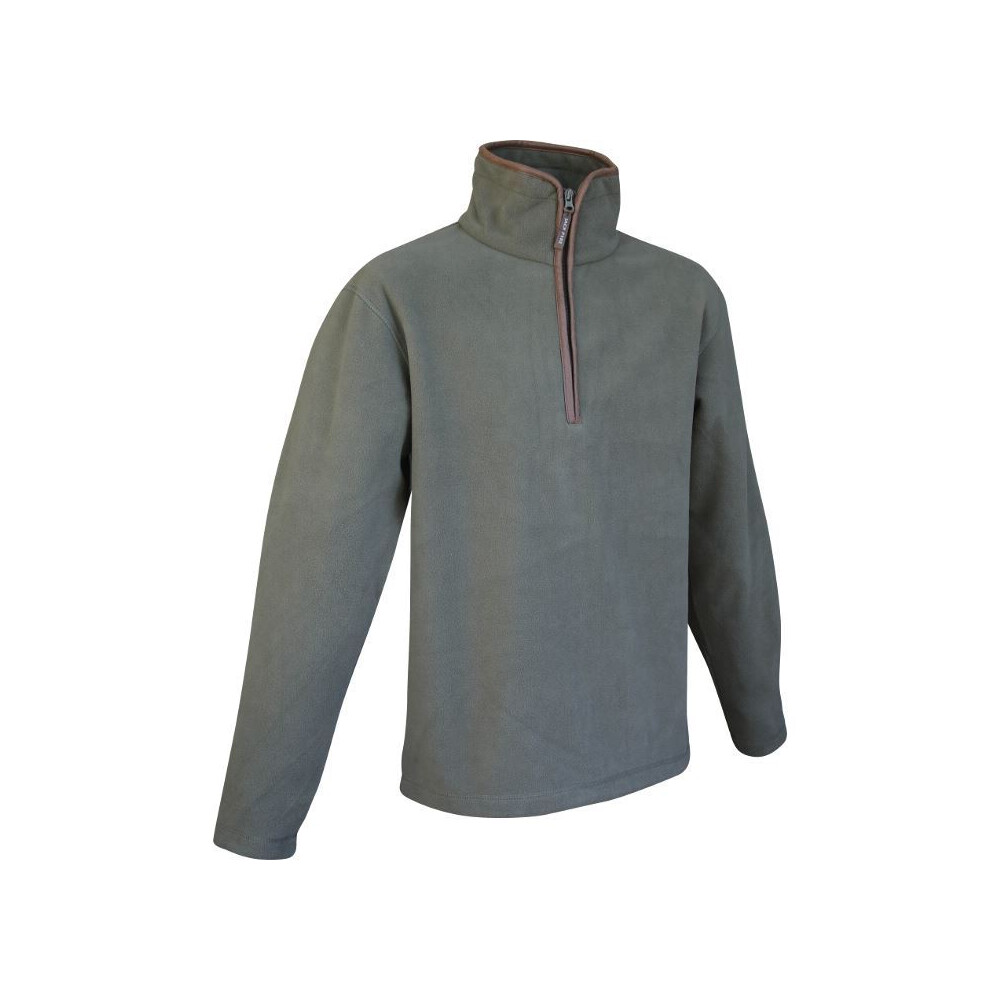 Jack Pyke Countryman Half Zip Pullover Fleece- Light Olive Green