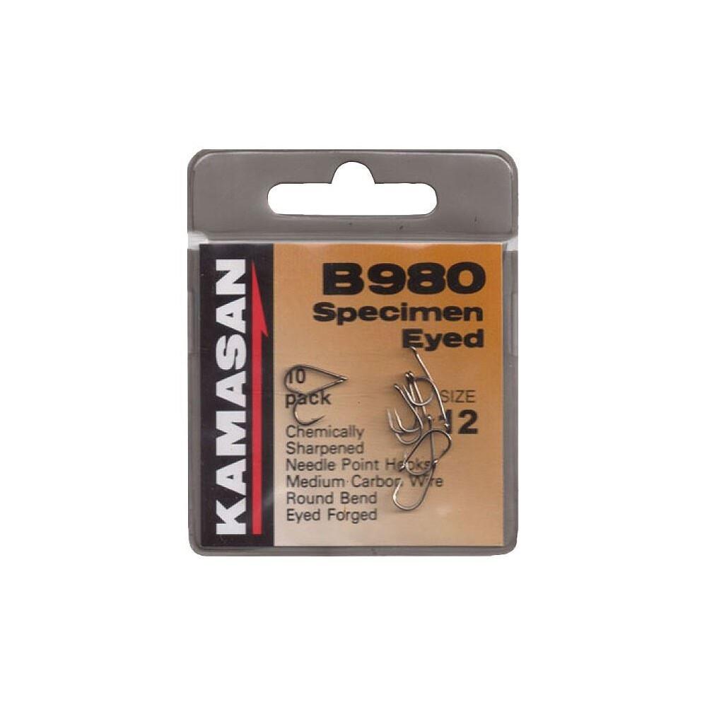 Kamasan B980 Specimen Hooks - Eyed - Barbed