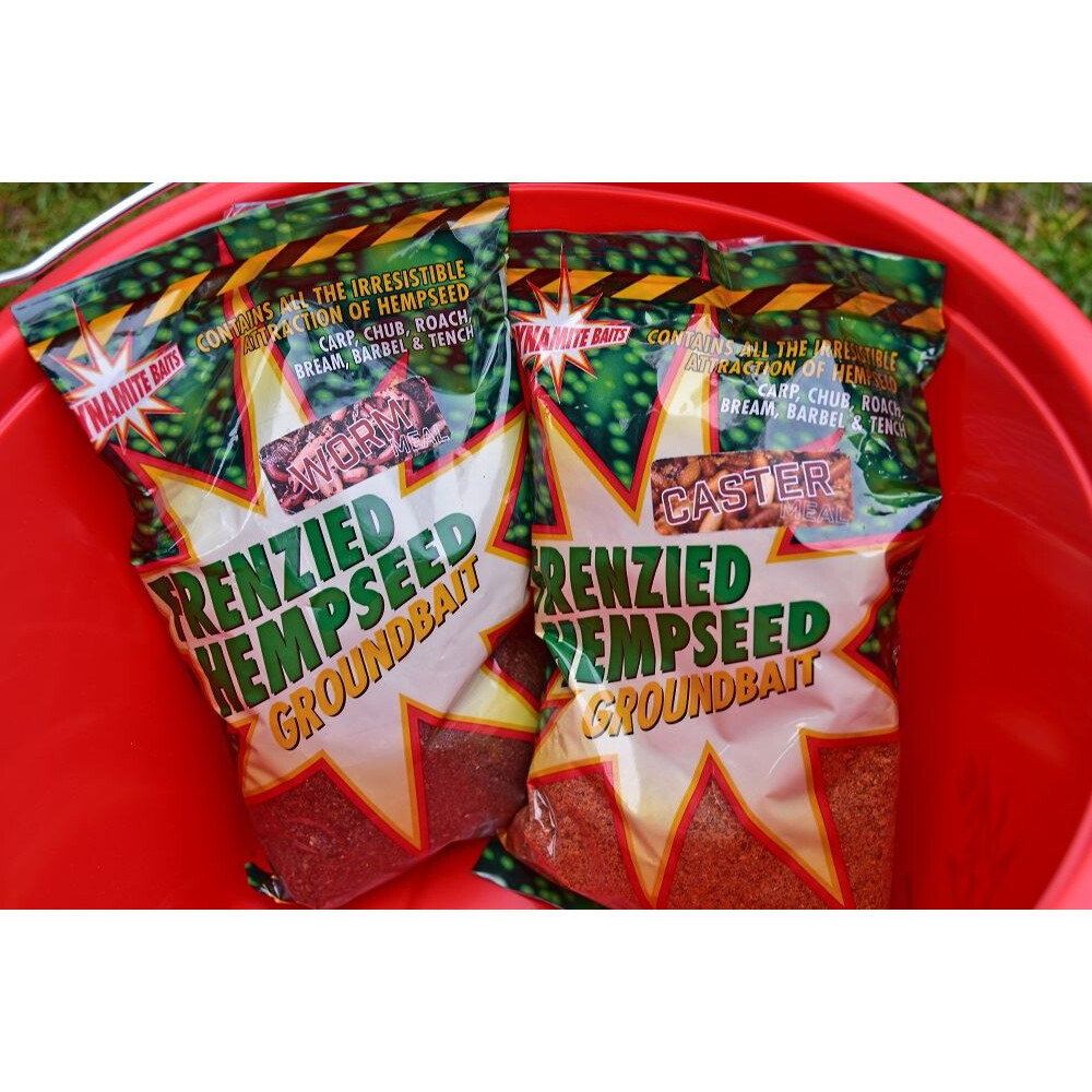 Dynamite Baits Frenzied Hemp Groundbait - Worm