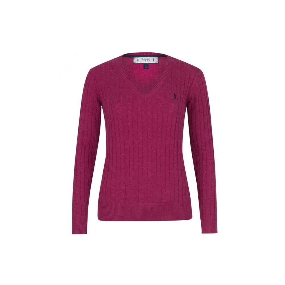 Jack Murphy Katie V-Neck Sweater - Size 18 Rhubarb Crumble