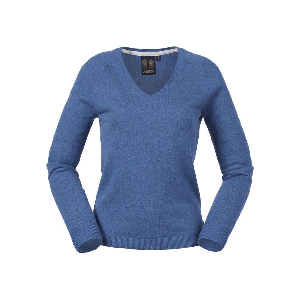 Musto Merino Ladies V Knit Kingfisher