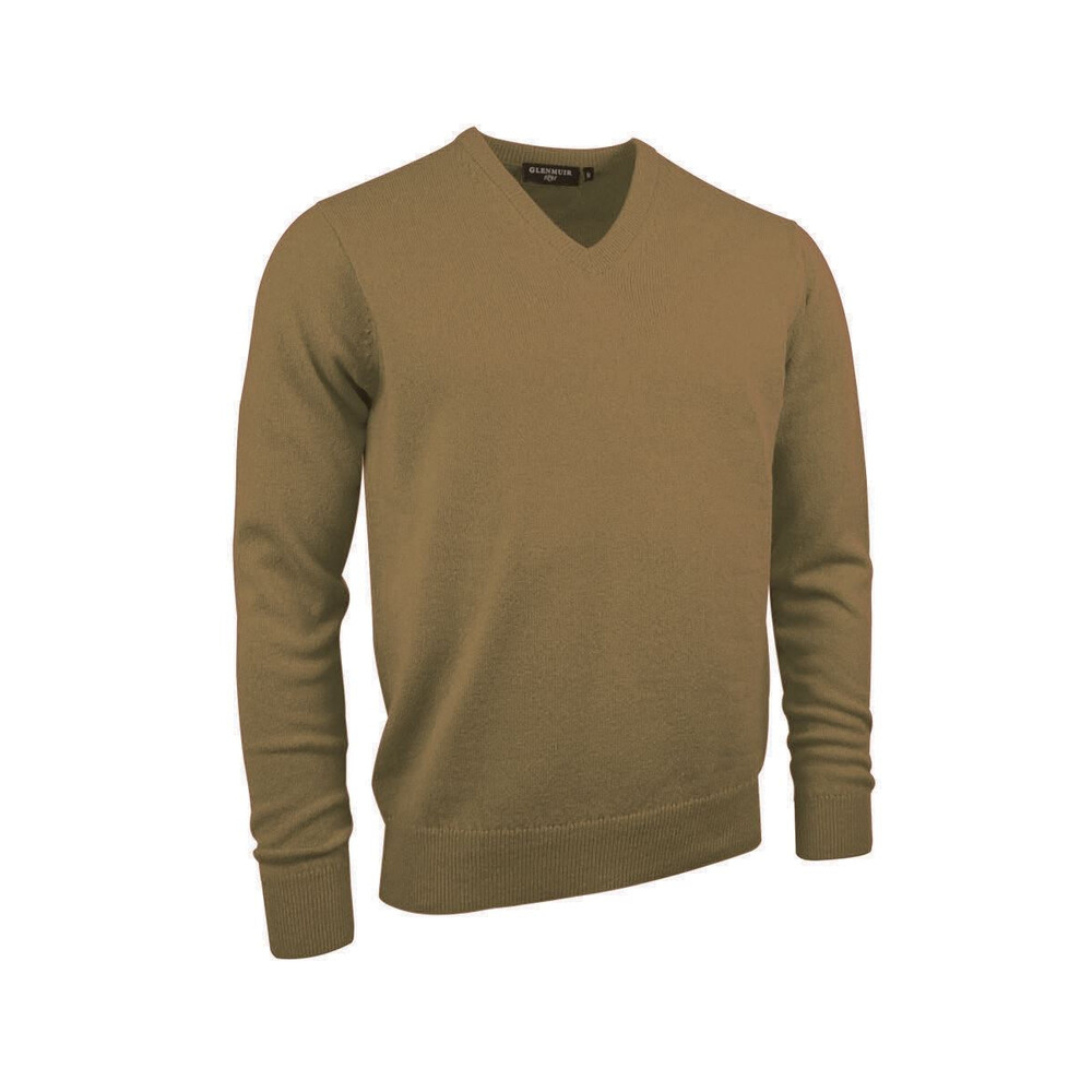 Glenmuir Lomond Men's Lambswool V-Neck Jumper Driftwood