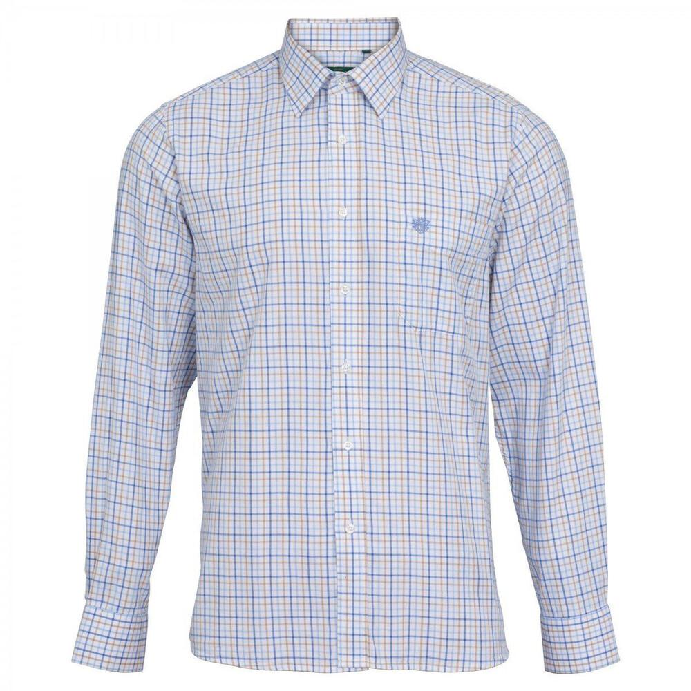Alan Paine Alan Paine Aylsham Shirt - Blue/Beige - arge