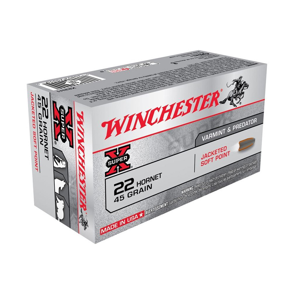 Winchester .22 Hornet Ammunition - 45gr - Super-X Power Point Unknown