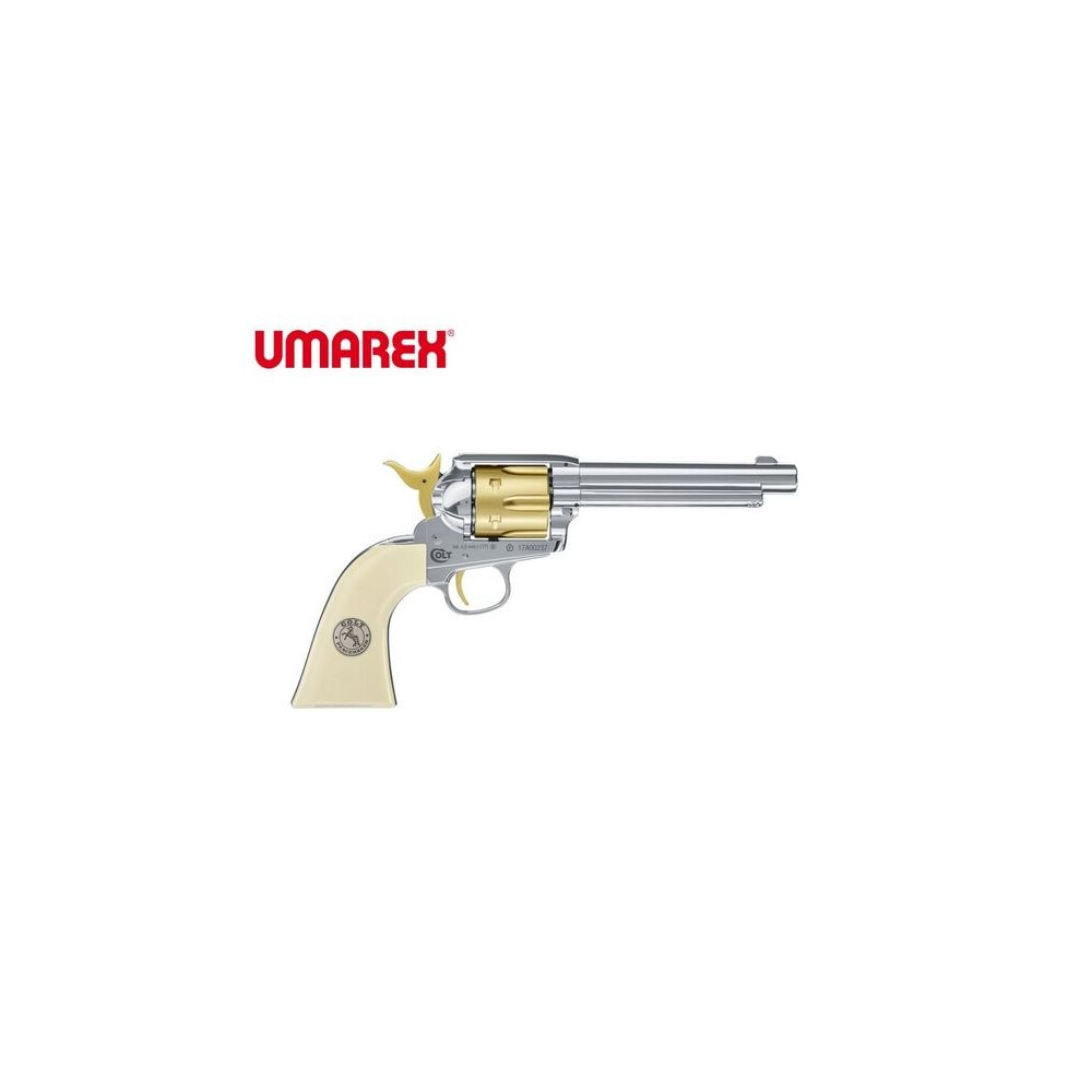 Colt Umarex  Peacemaker SAA .45 CO2 Air Pistol - Gold / Nickel - .177