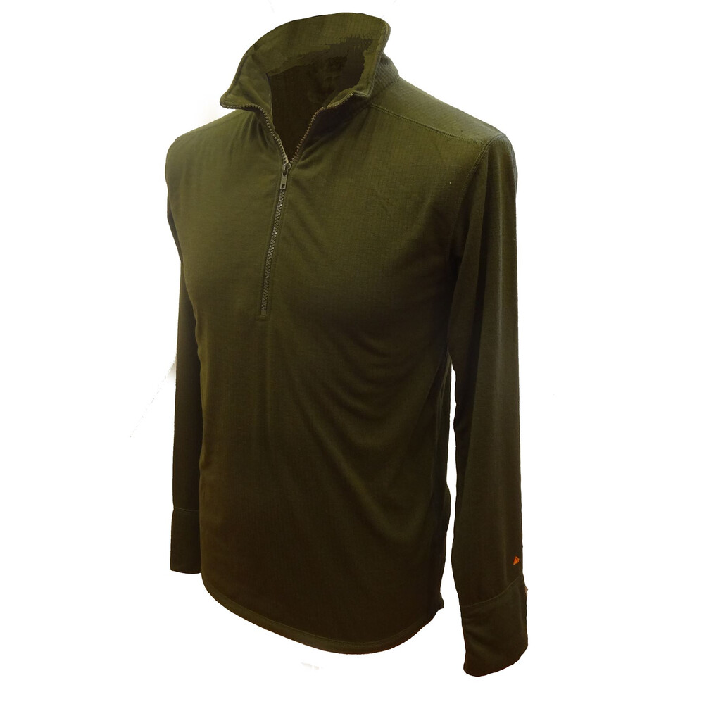 Laksen Laksen Bear Thermal Zip Neck Top - Green
