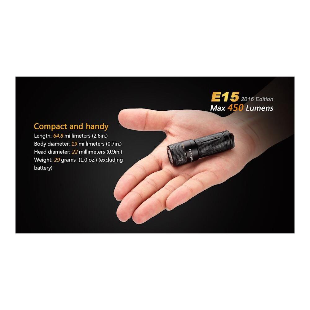 Fenix E15 Torch Black