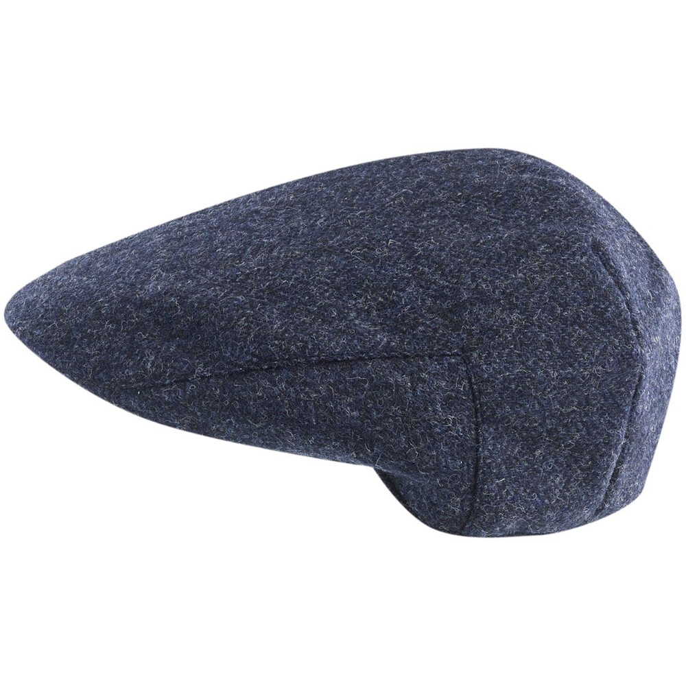 Jack Murphy Steel Fields Tweed Flat Cap - Navy Herringbone Navy Herringbone