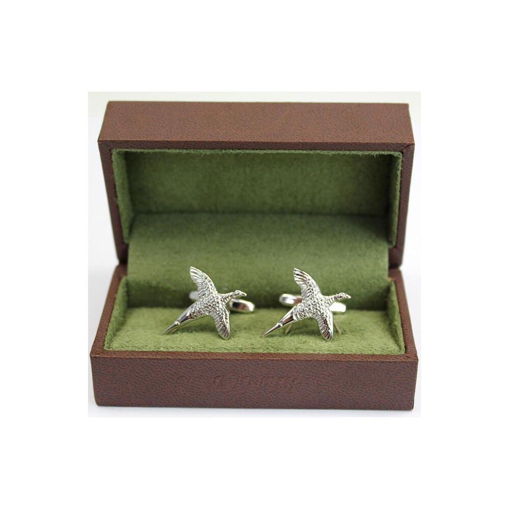Soprano Country Cufflinks - Pheasant Silver