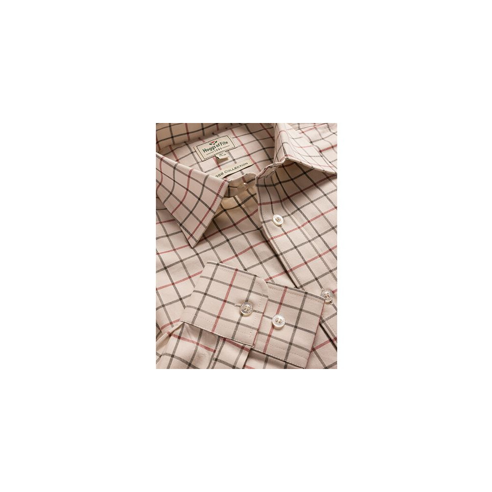 HOGGS OF FIFE Hoggs of Fife Laird Premier Tattersall Shirt - Cream Check Multi